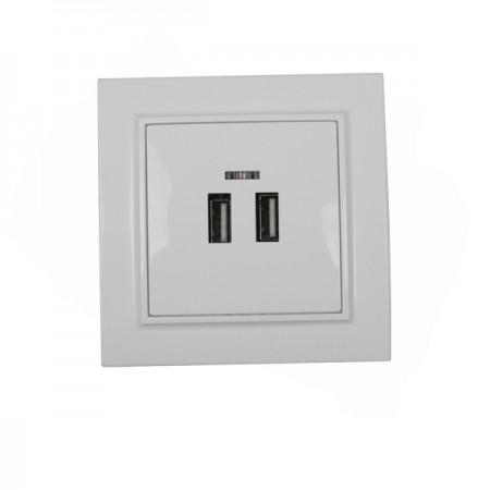 Розетка USB Enzo белая EH-5320 ElectroHouse