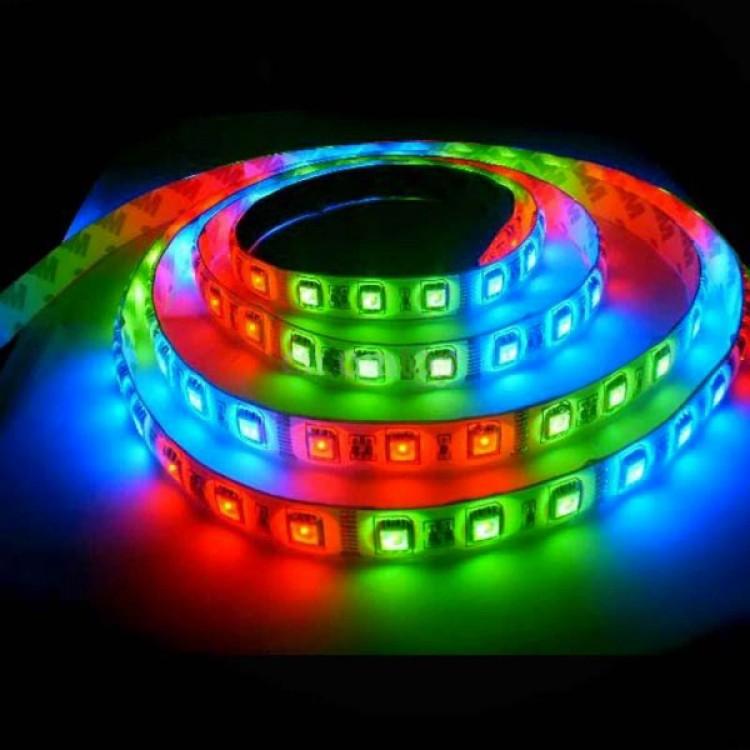Светодиодная лента SMD 5050-60 RGB 220В IP68, герметичная, 1м