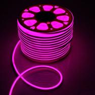 Светодиодный NEON SMD2835-120 8W розовый 220В