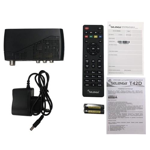 Цифровой ресивер Selenga T42D , эфирный DVB-T2/C, Dolby Digital