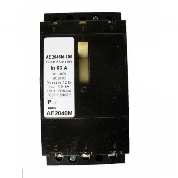 Выключатель автоматический АЕ2046-100-63А