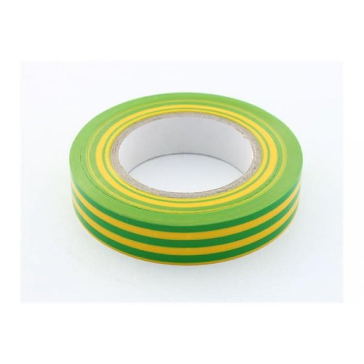 Изолента ПВХ 21 м желто-зеленая