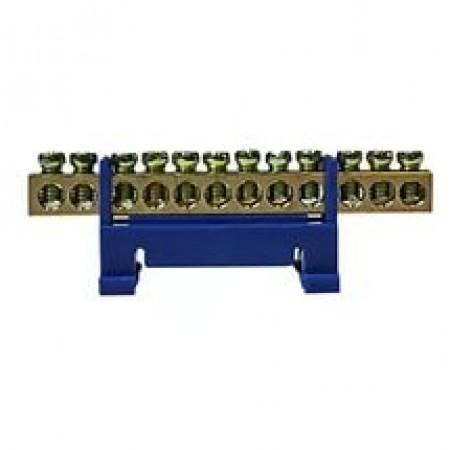 Шина нулевая на DIN-рейку 12 отверстий