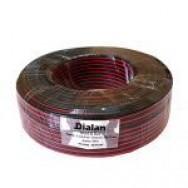 Акустический кабель 2х0.75 черно-красный