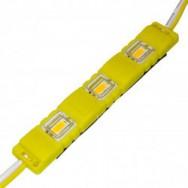Светодиодный модуль 5630-3 led Y 1,5W, 12В, IP65 желтый закрытый с линзой Biom