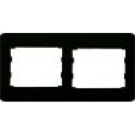 Двойная горизонтальная рамка черный глянец oscar lxl