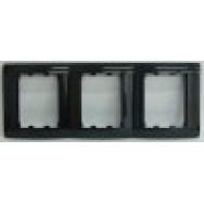 oscar lxl Тройная вертикальная рамка  черный глянец