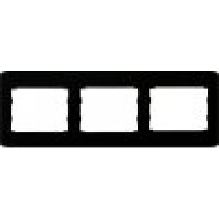 oscar lxl Тройная горизонтальная рамка  черный глянец