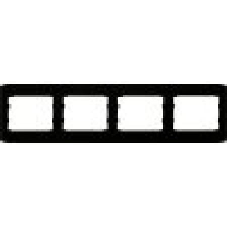 oscar lxl Четверная горизонтальная рамка  черный глянец
