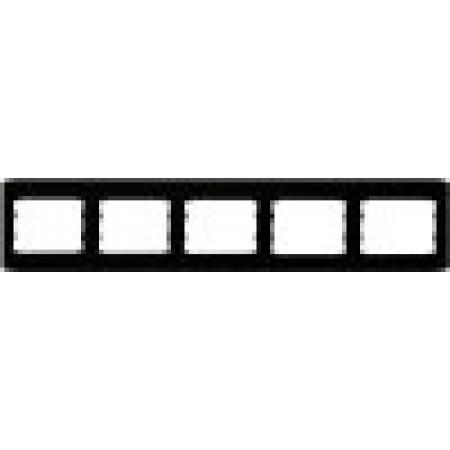 Пятерная горизонтальная рамка  черный глянец oscar lxl