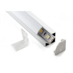 Профиль для светодиодной ленты аллюминиевый угловой с рассеевателем