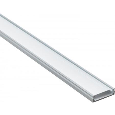 Профиль для светодиодной ленты аллюминиевый прямой с рассеевателем