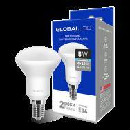 Cветодиодная лампа GLOBAL R50 5W яркий свет 220V E14 (1-GBL-154)