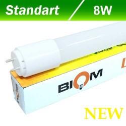 Светодиодная лампа T8 Biom GL-600-9W G13 6400К стекло