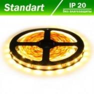 Светодиодная лента 12В B-LED 3528-60W теплый белый, негерметичная, 1м