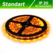 Светодиодная лента 12В B-LED 3528-60W желтый, негерметичная, 1м