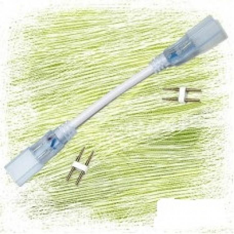 Коннектор для светодиодной ленты 3528 220В два разъема-провод 2pin