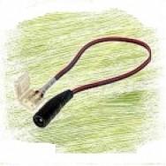 """Коннектор для светодиодной ленты 8мм зажим - mini Jack """"мама"""" через провод 15см"""