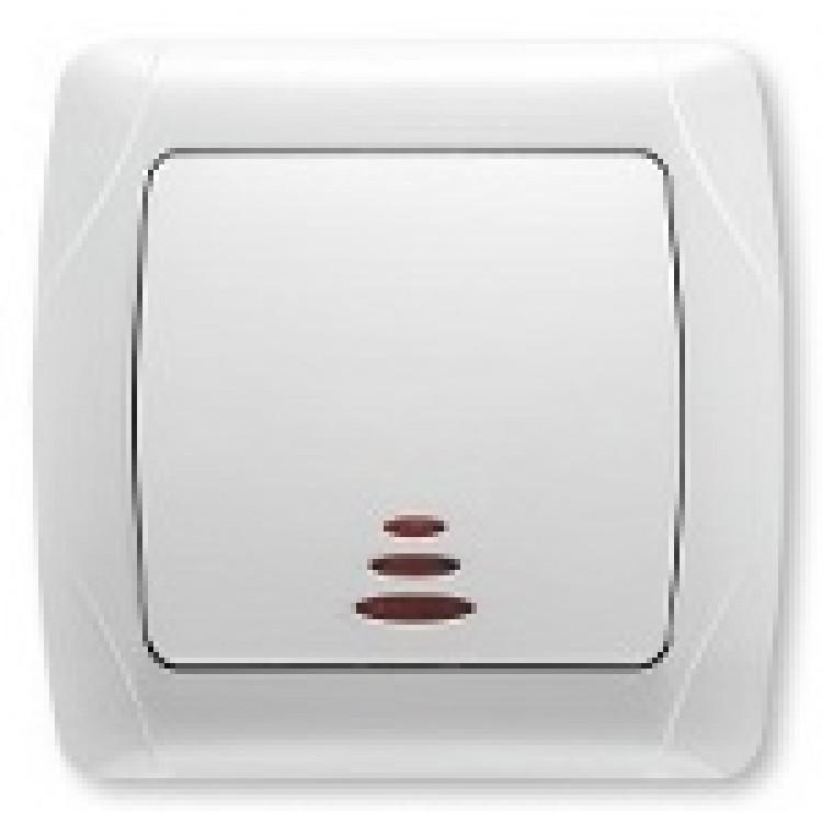 Выключатель одноклавишный с подсветкой VIKO CARMEN
