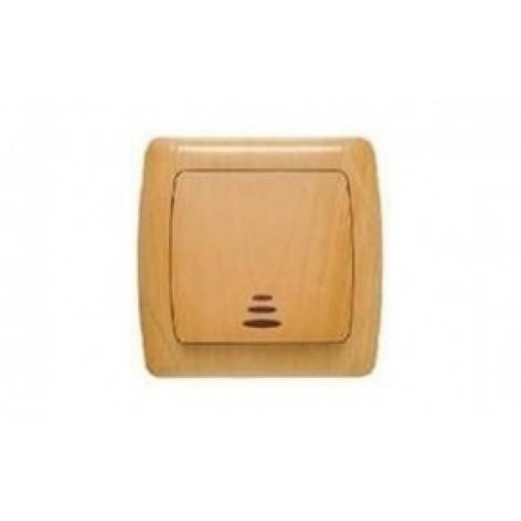 VIKO CARMEN DECORA Выключатель одноклавишный с подсветкой бук