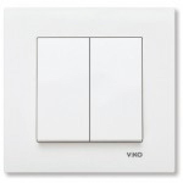 Выключатель двухклавишный VIKO KARRE